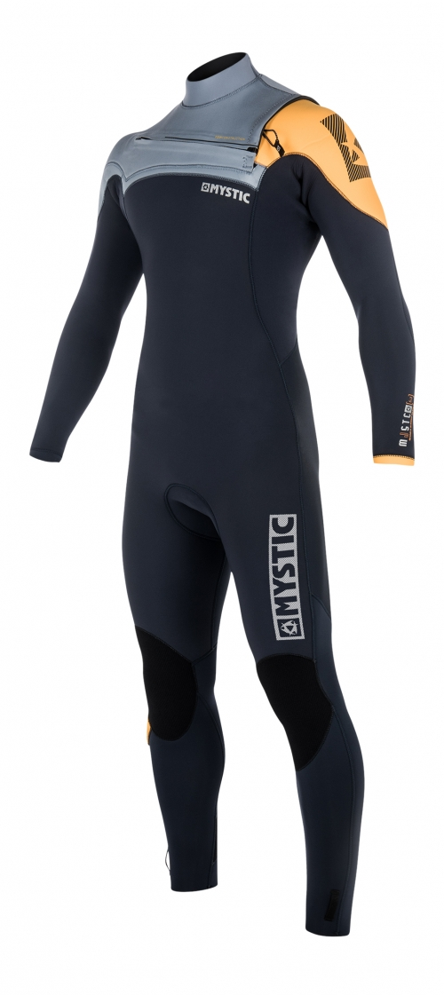 FEATURES<br /> - GBS (Glued Blind Stitched)<br /> - Waterproof stretch taping inside<br /> Mesh neoprene back panel<br /> Fine Mystic zip<br /> Glideskin thin neck construction<br /> Aquabarrier<br /> 4-way stretch kneepads<br /> Hook and loop closure<br /> Non slip cuffs<br /> Key pocket<br /> Aquaflush<br /> FABRICS<br /> - Polar lining on chest & back<br /> - M-Flex 2.0 (100%)