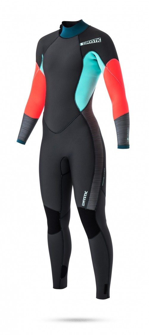 FEATURES<br /> GBS (Glued Blind Stitched)<br /> Waterproof stretch taping inside<br /> Mesh neoprene back panel<br /> Glideskin thin neck construction<br /> 4-way stretch kneepads<br /> Hook and loop closure<br /> Non slip cuffs<br /> Lining saver<br /> Overhead backup<br /> Key pocket<br /> Aquaflush<br /> Back-zip