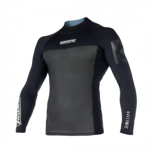 FEATURES - Flatlock stitching - Mesh chest panel (wind protection) - Adjustable waist cord FABRICS - Soft touch neoprene (70%) - Mesh neoprene (30%) 2mm Thickness