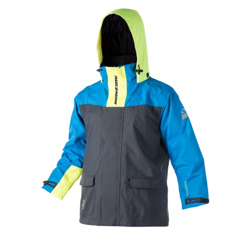 DESCRIPTIONSailing jacket specifically developed for young sailors. Windproof, waterproof and breathable shell with a fit contoured for junior sizes for the best comfort. This jacket has been designed to be comfortable and protective with a soft microfleece lined collar, a breathable mesh lining, a double-ended front zipper, adjustable wrist seals, and large pockets on the front for essential items. This jacket has been designed in bright colours so that it is easier to be seen on the water, and also includes a bright coloured hood.