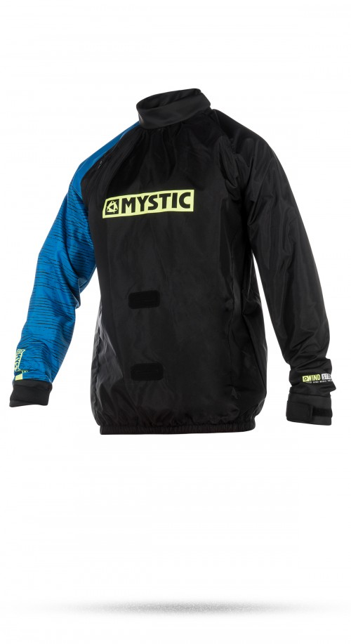 Kiteboarding Specific Windstopper Jacket for those colder days on the beach. Perfect for all kite traction activities. Whether you wear it over your fleece on the land or over your wetsuit when kitesurfing - this jacket will give you extra protection against the elements! Designed so the harness goes under the jacket like in snow kiting. The front of the jacket has a reinforced hole for the harness hook to go through. The reinforcement is a sticky rubbery material that is designed to grip the hook so it doesn't slip inside the jacket when you're unhooked. PU Laminated Nylon Water and Wind Resistant Adjustable latex fabric neck and wrist seal Elasticated waist