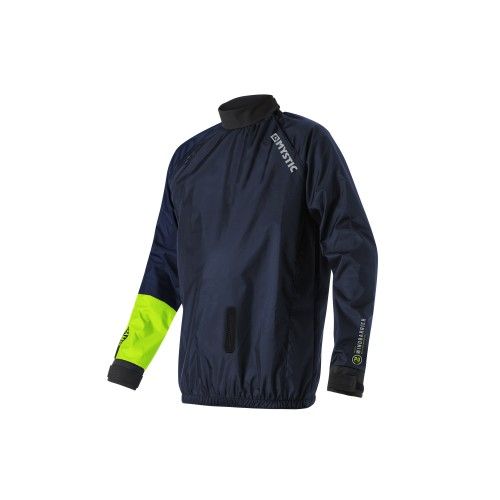 Kiteboarding Specific Windstopper Jacket for those colder days on the beach.<br /> Perfect for all kite traction activities. Whether you wear it over your fleece on the land or over your wetsuit when kitesurfing - this jacket will give you extra protection against the elements!<br /> Designed so the harness goes under the jacket like in snow kiting. The front of the jacket has a reinforced hole for the harness hook to go through. The reinforcement is a sticky rubbery material that is designed to grip the hook so it doesn't slip inside the jacket when you're unhooked.<br /> PU Laminated Nylon<br /> Water and Wind Resistant<br /> Adjustable latex fabric neck and wrist seal<br /> Elasticated waist