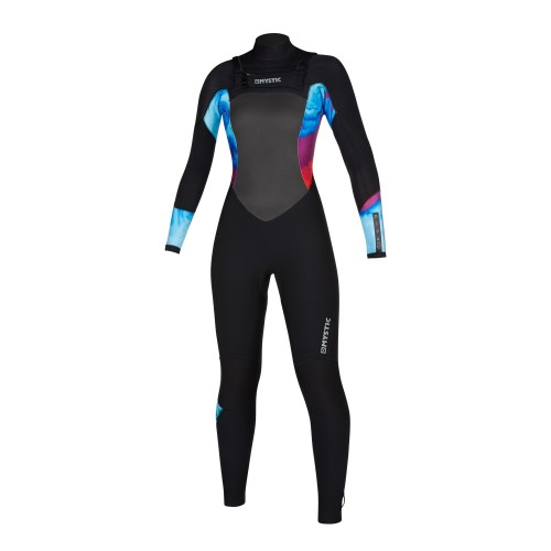 """<h3>FEATURES</h3><p>- Waterproof stretch taping (100%): all seams<br /> - GBS (Glued Blind Stitched)<br /> - Wind Mesh chest panel<br /> - Wind Mesh back panel<br /> - Fine Mystic zip<br /> - Aquabarrier<br /> - Hex-tech kneepads<br /> - Velcro ankle closure straps (included)<br /> - Non slip cuffs<br /> - Key pocket2.0: keyloop with mini-buckle<br /> - Aquaflush<br /> - Front-zip</p><div><span style=""""font-size:15px"""">Waterproof stretch taping (100%): all seams</span><img alt="""""""" height=""""150"""" src=""""https://www.mysticboarding.com/cache/images/webshop/1-waterproof-taping-50.jpg"""" width=""""249"""" /><p>A high durable taping used inside the suit to avoid leaking and keep it flexible and warm.</p></div><h3>FABRICS</h3><p>- M-Flex 2.0 (100%)<br /> - Flaremesh in chest & back<br /> - Fox Fleece in lower body</p>"""